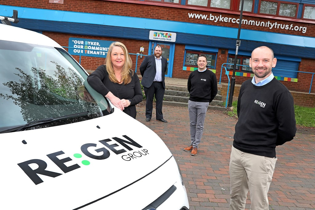 CONTRACTOR APPOINTED TO CARRY OUT IMPROVEMENT WORKS ON BYKER ESTATE